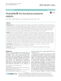ProteoModlR for functional proteomic analysis Paolo Cifani1† , Mojd