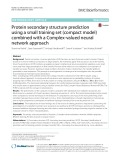 Protein secondary structure prediction using a small training set (compact model) combined with a Complex-valued neural network approach