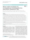 Mixture model normalization for non-targeted gas chromatography/mass spectrometry metabolomics data