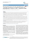 The Gap Procedure: For the identification of phylogenetic clusters in HIV-1 sequence data
