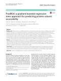 PredRSA: A gradient boosted regression trees approach for predicting protein solvent accessibility