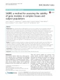 SABRE: A method for assessing the stability of gene modules in complex tissues and subject populations
