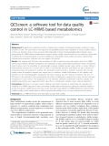 QCScreen: A software tool for data quality control in LC-HRMS based metabolomics