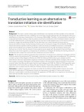 Transductive learning as an alternative to translation initiation site identification