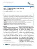 Fizzy: Feature subset selection for metagenomics