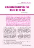 Sự ảnh hưởng của pháp luật Pháp tới luật tư ở Việt Nam