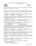 Đề khảo sát chất lượng đầu năm môn Vật lý lớp 12 năm học 2017-2018 – Trường THPT Thuận Thành số 1 (Mã đề 132)