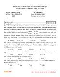 Đề khảo sát chất lượng đầu năm môn Sinh học lớp 12 – Trường THPT Lý Thường Kiệt (Mã đề 121)