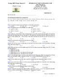 Đề khảo sát chất lượng đầu năm môn Hóa học lớp 12 năm học 2017-2018 – Trường THPT Thuận Thành số 1 (Mã đề 132)