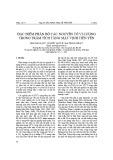 Đặc điểm phân bố các nguyên tố vi lượng trong trầm tích tầng mặt vịnh Tiên Yên