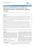 Multi-class BCGA-ELM based classifier that identifies biomarkers associated with hallmarks of cancer