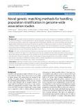 Novel genetic matching methods for handling population stratification in genome-wide association studies