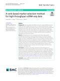 A rank-based marker selection method for high throughput scRNA-seq data