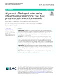 Alignment of biological networks by integer linear programming: Virus-host protein-protein interaction networks