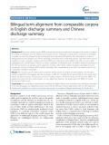 Bilingual term alignment from comparable corpora in English discharge summary and Chinese discharge summary