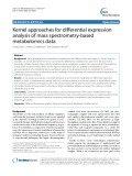 Kernel approaches for differential expression analysis of mass spectrometry-based metabolomics data