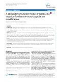 A computer simulation model of Wolbachia invasion for disease vector population modification
