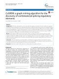 CoSREM: A graph mining algorithm for the discovery of combinatorial splicing regulatory elements