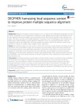 DECIPHER: Harnessing local sequence context to improve protein multiple sequence alignment
