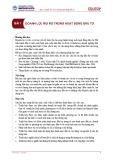 Bài giảng Tài chính doanh nghiệp – Bài 1: Doanh lợi, rủi ro trong hoạt động đầu tư