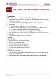 Bài giảng Kế toán ngân hàng thương mại - Bài 1: Tổng quan về kế toán ngân hàng thương mại