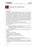 Bài giảng Quản trị doanh nghiệp - Bài 1: Tổng quan về kỹ năng quản trị