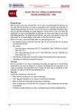 Bài giảng Quản trị Marketing – Bài 6: Quản trị các công cụ Marketing trong Marketing – Mix