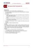 Bài giảng Kế toán quản trị 1 - Bài 1: Tổng quan về kế toán quản trị