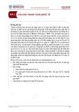 Bài giảng Tài chính quốc tế 1 - Bài 2: Cán cân thanh toán quốc tế