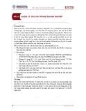 Bài giảng Tài chính doanh nghiệp 1 - Bài 2: Quản lý thu chi trong doanh nghiệp