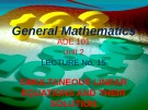 Lecture General mathematics: Lecture 15 - Ms. Fehmida Haroon