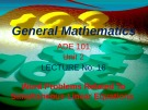 Lecture General mathematics: Lecture 16 - Ms. Fehmida Haroon