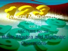Lecture General mathematics: Lecture 10 - Ms. Fehmida Haroon