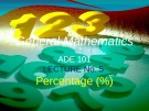 Lecture General mathematics: Lecture 5 - Ms. Fehmida Haroon