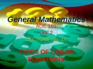 Lecture General mathematics: Lecture 14 - Ms. Fehmida Haroon