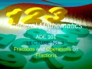 Lecture General mathematics: Lecture 3 - Ms. Fehmida Haroon