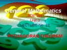Lecture General mathematics: Lecture 27 - Ms. Fehmida Haroon