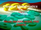 Lecture General mathematics: Lecture 31 - Ms. Fehmida Haroon
