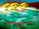 Lecture General mathematics: Lecture 18 - Ms. Fehmida Haroon