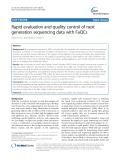 Rapid evaluation and quality control of next generation sequencing data with FaQCs
