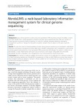 MendeLIMS: A web-based laboratory information management system for clinical genome sequencing