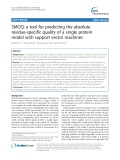 SMOQ: A tool for predicting the absolute residue-specific quality of a single protein model with support vector machines