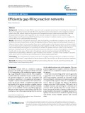 Efficiently gap-filling reaction networks