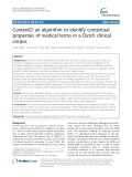 ContextD: An algorithm to identify contextual properties of medical terms in a Dutch clinical corpus