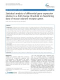 Statistical analysis of differential gene expression relative to a fold change threshold on NanoString data of mouse odorant receptor genes