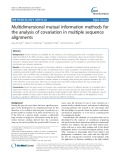 Multidimensional mutual information methods for the analysis of covariation in multiple sequence alignments