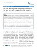 Masking as an effective quality control method for next-generation sequencing data analysis
