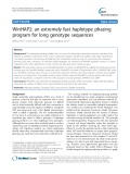 WinHAP2: An extremely fast haplotype phasing program for long genotype sequences