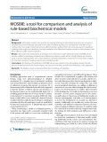 MOSBIE: A tool for comparison and analysis of rule-based biochemical models