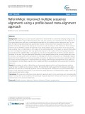ReformAlign: Improved multiple sequence alignments using a profile-based meta-alignment approach